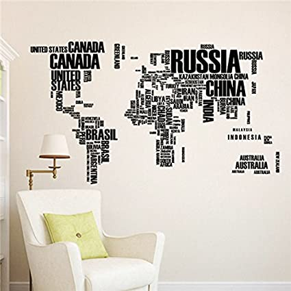 Buy new 2016 colorful large world map wall stickers original new 2016 colorful large world map wall stickers original creative letters map wall art bedroom home gumiabroncs Images
