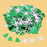 Christmas Confetti,Christmas Symbolic Design Bright Confetti,for Christmas Wedding Birthday Holiday Party Decoration Set(Christmas Tree & Snowflake)