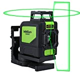 Levelsure 901CG Professional Laser Level, Mute 150 Ft Green Beam Cross Laser Self-Leveling 360-Degree Horizontal Line with Magnetic Pivoting Base, 2 Full-time Pulse Modes