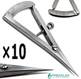 10× Dental Castroviejo Caliper 0 to 20 mm Straight 3.25'' Surgical Premium Instruments