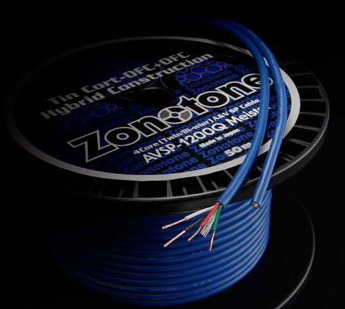 Zonotone 4芯スピーカーケーブル AVSP-1200Q Meister