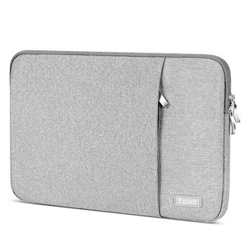 Laptop Sleeve 13.3 Inch,Egiant Water-Resistant Carrying Notebook Cases Bag Compatible Mac Air 13|Mac Pro 13 Touch Bar|Surface Book|Stream 13,Chromebook Computer Cover,Gray