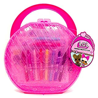 L.O.L. Surprise! Creativity Case by Horizon Group USA,Create, Play & Store,DIY Activity Case Including Paper Dolls,Coloring Pages,Makers,Crayons,Glitter Glue,Scratch Art,Stickers & More.Hot Pink