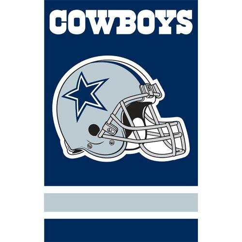 Party Animal Dallas Cowboys NFL Applique Banner Flag (44x28'')'' PAR-AFDA by Party Animal