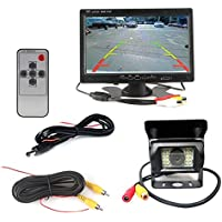 12V 24V Car Vehicle Rear View IR Night Vision Backup Camera Waterproof Kit + 7 TFT LCD Monitor Parking Assistance System For Bus,Truck