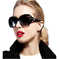 ATTCL Women Polarized UV400 Sunglasses Fashion Plaid Oversized Sunglasses