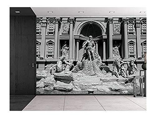 Trevi fountain (Fontana di Trevi) in Rome Famous Sculpture setting Italian architecture Wall Mural
