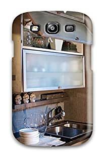 New Design Shatterproof QNeQmkW1088fiJpe Case For Galaxy S3 (faux Finish Textured Cabinets)