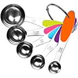 Stainless Steel Measuring Spoons 5 Piece Stackable Set - Measuring Set for Cooking and Bakin