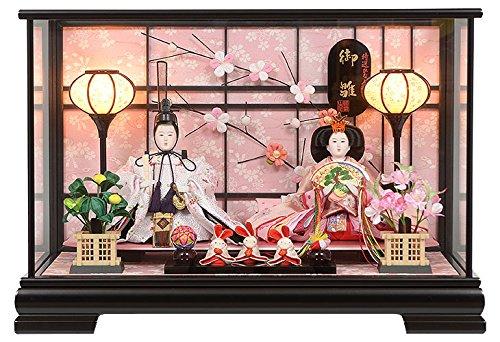 雛人形 親王飾り ケース飾り ひな人形 No.306-102   B077LJ5C4S