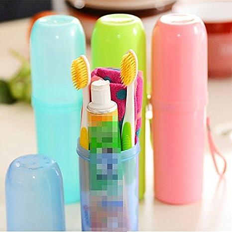 Generic claro azul: organizador de almacenamiento para cepillos de dientes Vaso para cepillos de dientes