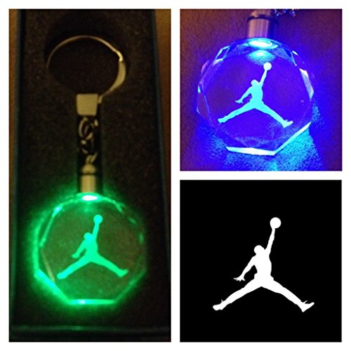 Price comparison product image Jordan Jump Man Crystal Led KeyChain 7 Colors Changing Cycle by J Adryan