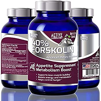 Best Fat Burner 40% Forskolin - Weight Loss Supplement -100% Pure Highest Grade Extract - 300mg - 90 Day Supply - Standardized to 40% - Clinically Tested - 100% Guaranteed By Active Laborartory