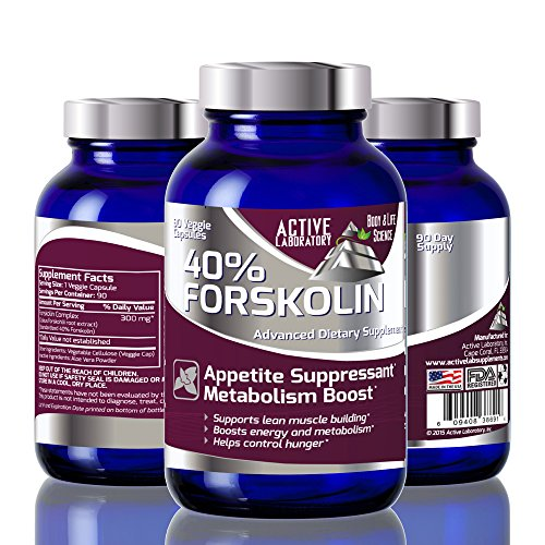 Best Fat Burner 40% Forskolin – Weight Loss Supplement -100% Pure Highest Grade Extract – 300mg – 90 Day Supply – Standardized to 40% – Clinically Tested – 100% Guaranteed By Active Laborartory