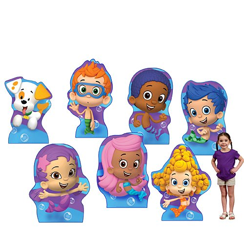 3 ft. 2 in. to 3 ft. 9 in. Bubble Guppies Standee Set Standup Photo Booth Prop Background Backdrop Party Decoration Decor Scene Setter Cardboard Cutout -