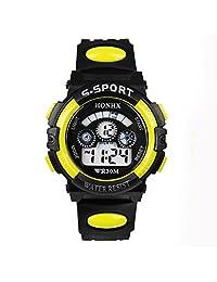 Anboo Waterproof Children Boy Digital LED Quartz Alarm Date Sports Wrist Watch