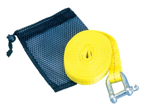 ATV Tow Strap with Shackle & Mesh - Mesh Cover Tow Hook