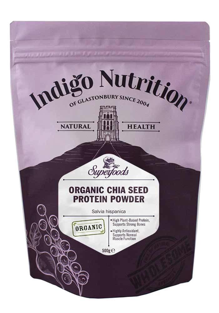 Indigo Herbs Polvo ecológico de Proteína de Semilla Chia 500g