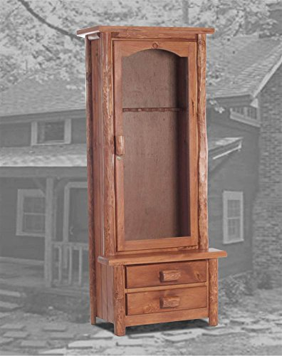 Oak Gun Cabinet - Canton Gun Cabinet in Golden Oak Finish