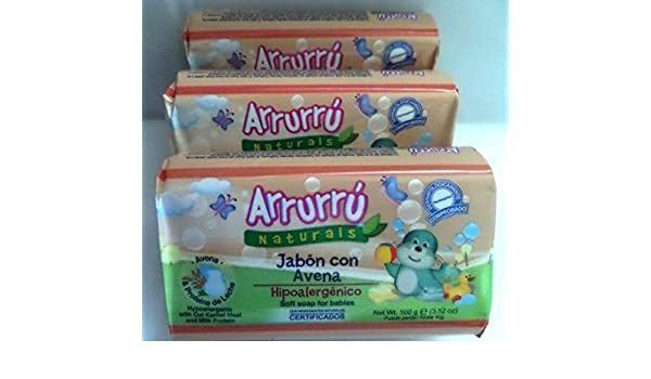 Amazon.com : Arrurru Naturals Soft Soap with Oat and Milk Protein for Babies / Jabon Con Avena (3 Pack) : Baby