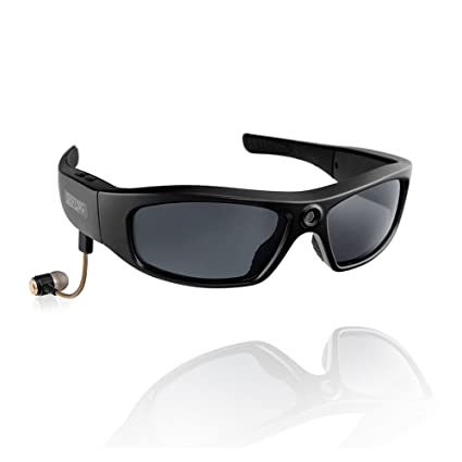 b123f8fcea07 KOLSOL Bluetooth Sunglasses with 720P Camera Video Recorder Camera Glasses  Headset for IOS Android Smartphone Polarized