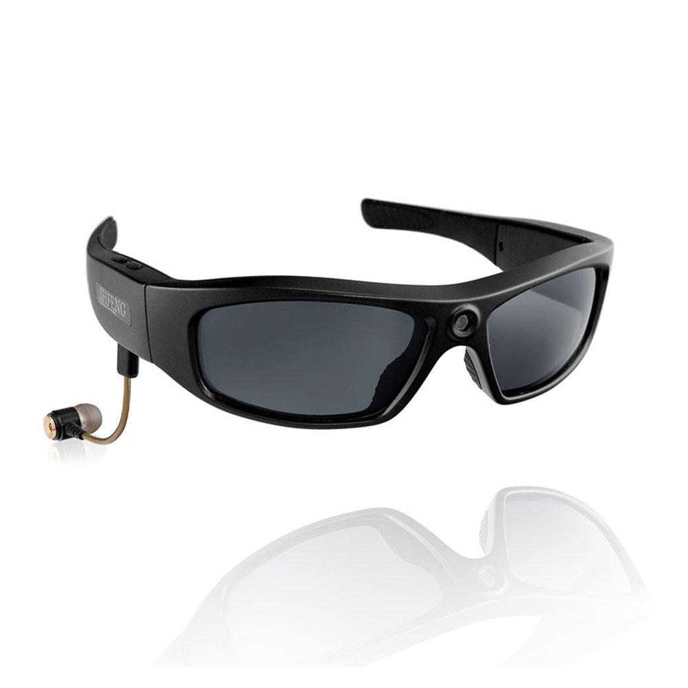 KOLSOL Bluetooth Sunglasses with 720P Camera Video Recorder Camera Glasses Headset for IOS Android Smartphone Polarized Sunglasses UV400,8GB SD Card