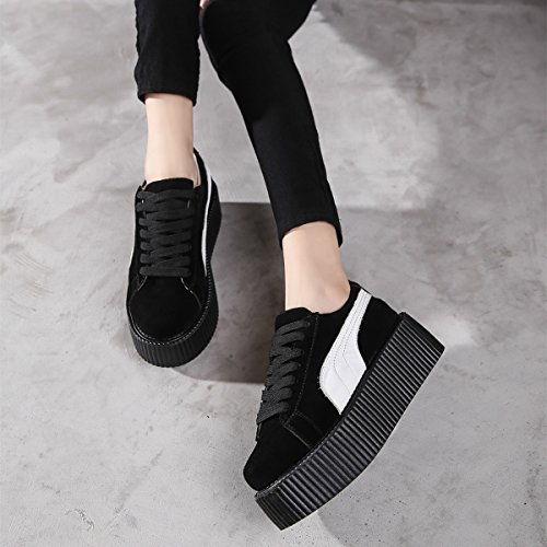 Cuir Lacets Punk Roseg Creepers Platforme Baskets Femmes Chaussures qC1nZxw4