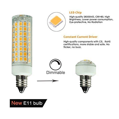 E11 Led Light Bulbs Dimmable 7 5w 75w Ceiling Fan Halogen Bulb Equivalent 75w Halogen Bulbs