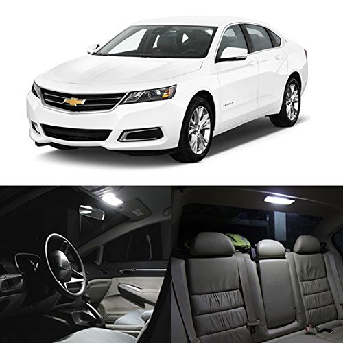 zda 6 White Interior LED Package Kit + License Plate Light (11 Pieces) ()
