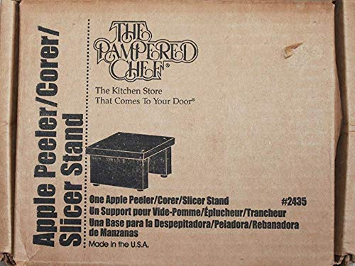 The Pampered Chef Wood Stand, for use with the Apple Peeler/Corer/Slicer 2435