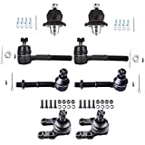 ECCPP Front Upper Lower Ball Joints Inner Outer Tie Rod Ends Complete for 1986-1994 Nissan D21 (8Pcs)
