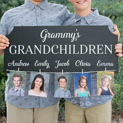 Personalized Grandchildren Photo Sign Grandparent Gift
