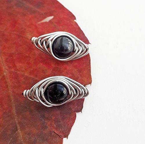 Onyx Ear Pin - Black onyx ear climber - Black onyx ear pin Onyx earring Black onyx jewelry Ear sweep