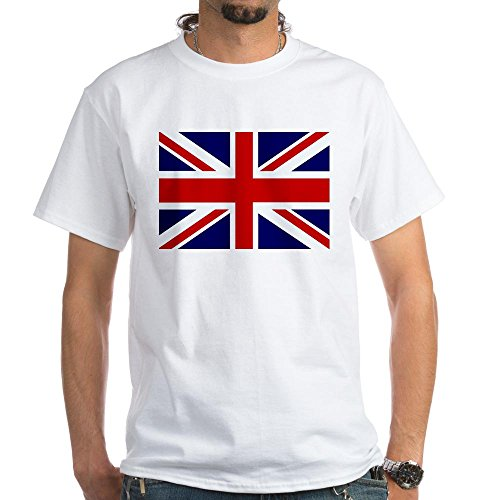 Royal Lion White T-Shirt British English Flag HD - Medium