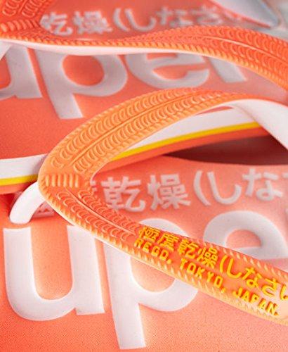 Superdry , Damen Zehentrenner orange Fluro Coral/Optic/Fluro Yellow