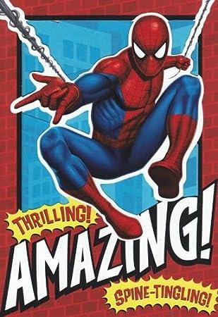 Amazon.com: Tarjeta de felicitación cumpleaños Spiderman ...
