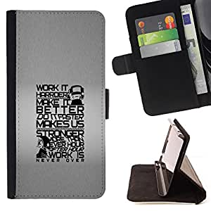 DEVIL CASE - FOR LG G3 - Work Harder Stronger Better Quote Life - Style PU Leather Case Wallet Flip Stand Flap Closure Cover