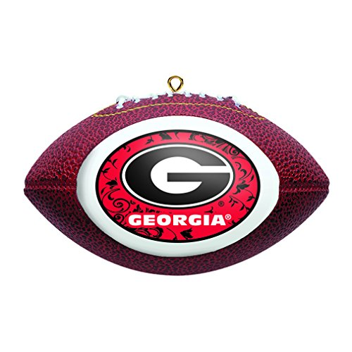Ncaa Ornaments (NCAA Georgia Bulldogs Replica Football Ornament)