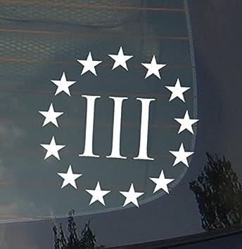 "3 Percenters Logo 5/"" Decal Sticker Car Window Laptop Percenter Nyberg Threepers"