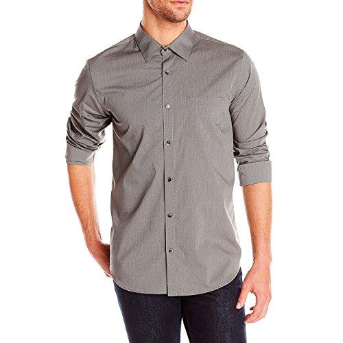 UPC 797762081278, Calvin Klein Men's Fine Line Dobby Long Sleeve Woven Shirt, Carbon, X-Large