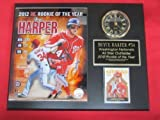 Bryce Harper Nationals Collectors Clock Plaque w/8x10 Photo and Card