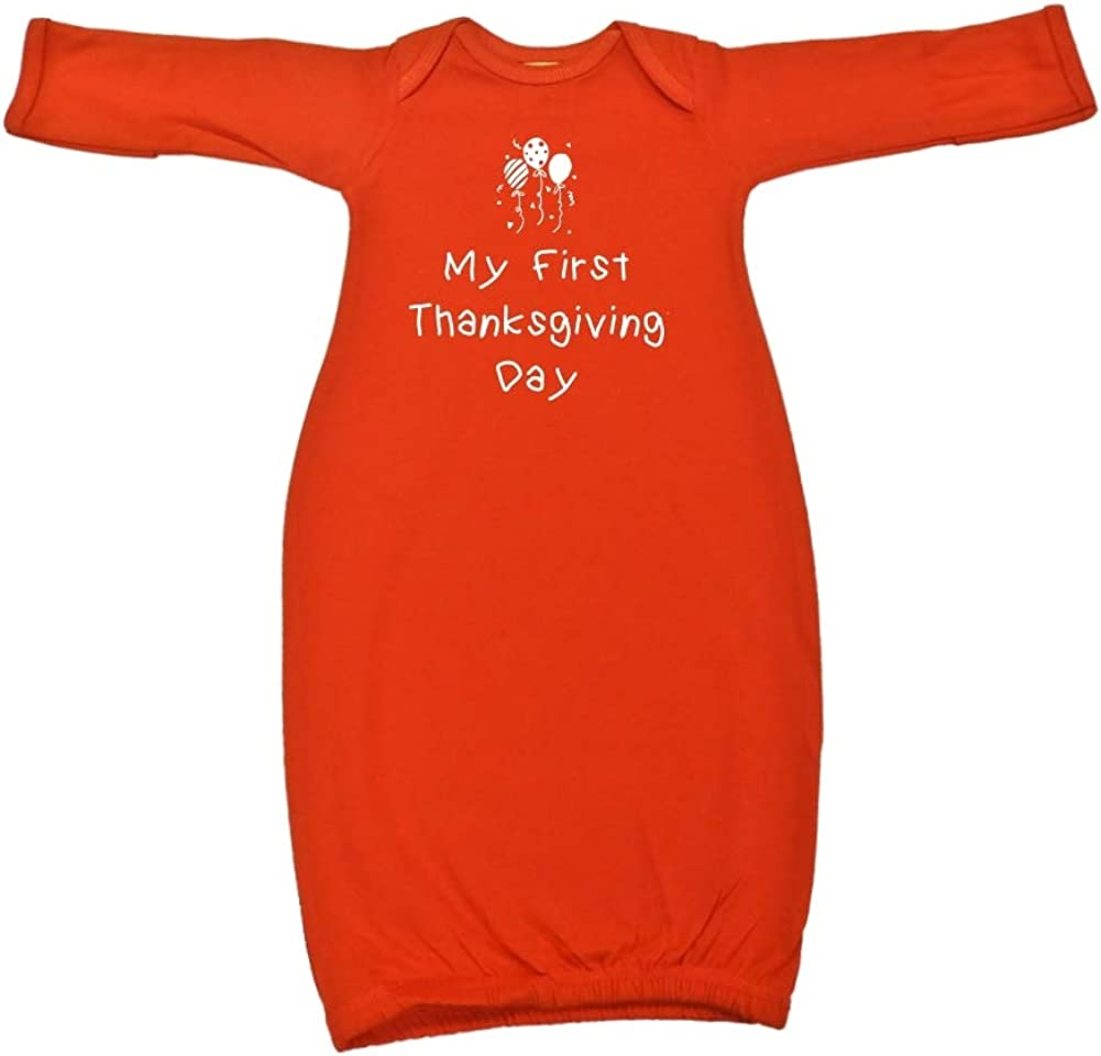Mashed Clothing My First Thanksgiving Day Balloons Baby Cotton Sleeper Gown