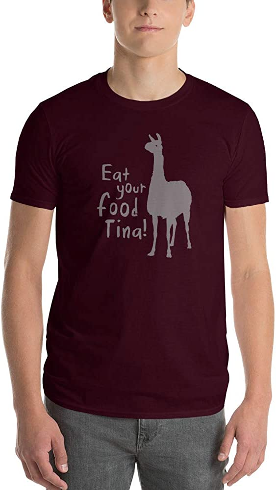 TeesMadeSimple - Eat Your Food Tina - Short-Sleeve Unisex T-Shirt