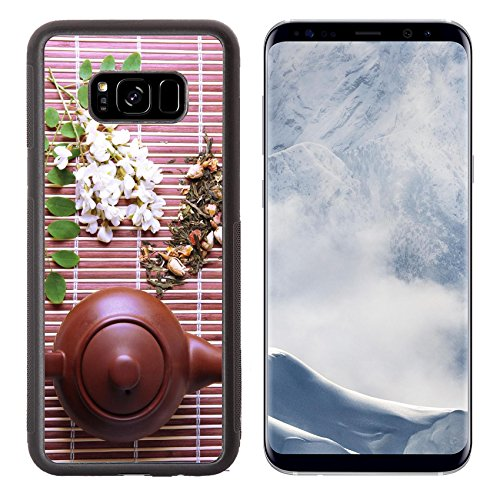 Snap Infusion Snap (Liili Premium Samsung Galaxy S8 Plus Aluminum Backplate Bumper Snap Case natural floral tea infusion with dry flowers ingredients on bamboo mat background 29374900)