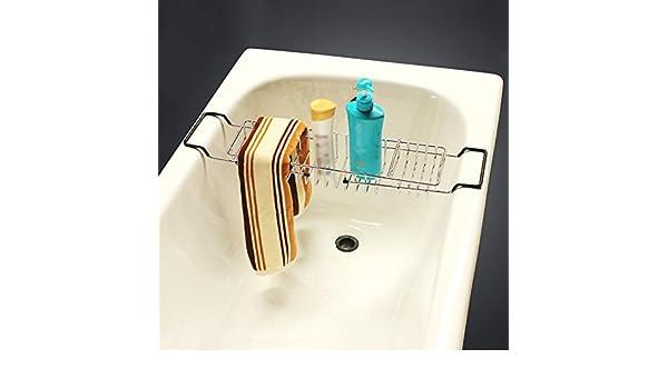 XIAOLINGEscalable bañera baño estante estante del estante para ...