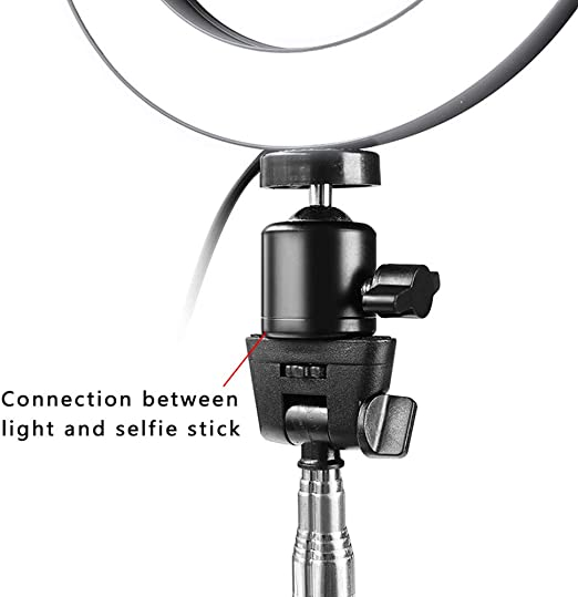 UKSAT Led Circular Round Fill Light,3 Modes of Adjustable Brightness USB Powered Makeup Lamp Can Be Used for Podcasts,Video Chat,Self-Timer Fill Lights