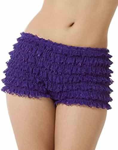 a3a52582967 BellaSous Womens Sexy Ruffle Panties Tanga Dance Bloomers Sissy Booty Shorts