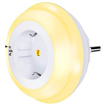 LED Nachtlicht Steckdose HGHC LED Nachtlicht Kind mit Dämmerungssensor Baby