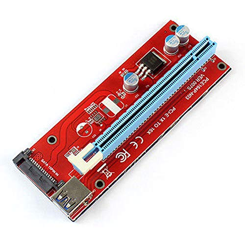 Refaxi 1PC PCI-E Express 1x to 16x Extender Riser Card Extension Cord Adapter BTC - Audio Ddr2 Pcie