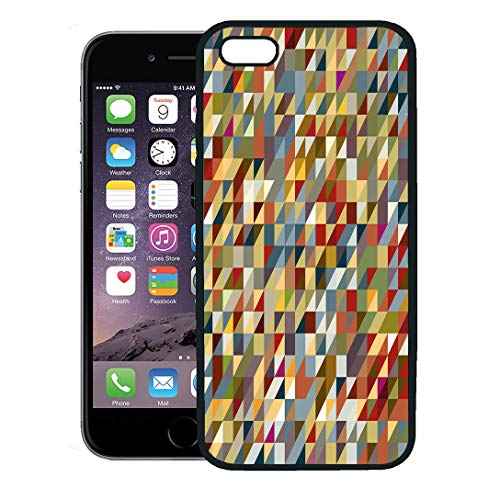 - Semtomn Phone Case for iPhone 8 Plus case,Colorful Geometric Abstract Geometrical in Earth Tones Bright Celebration iPhone 7 Plus case Cover,Black